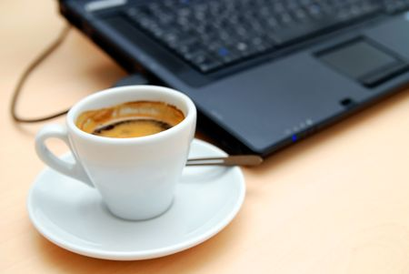 Morning coffee at the office Stock Photo - 5309497