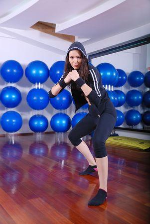 fighter girl photo