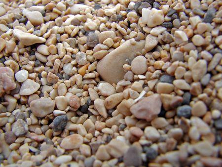 pepples: beach sand detail Stock Photo