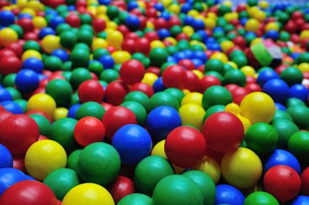 pool balls: colorful ball background abstract game child Stock Photo