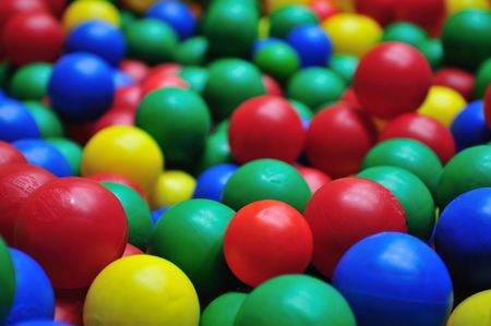 playcentre: colorful ball background abstract game child Stock Photo