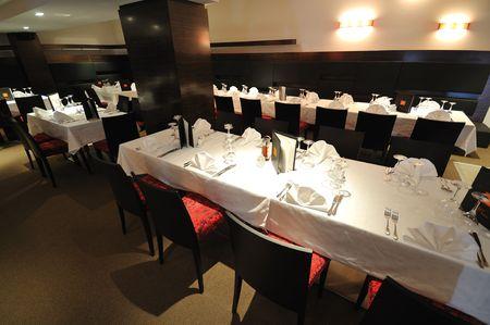 coffee restaurant indoor with luxury wooden furniture Stock Photo - 5395505