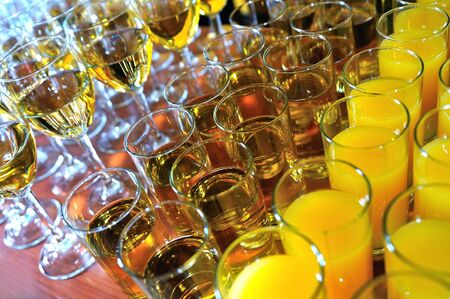 tasty cattering food and drink arrangement at party Stock Photo - 5395039