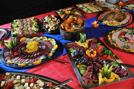 Catering food at a helloween party photo