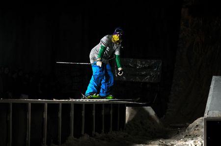 jump ski in extreme and freestye sport photo