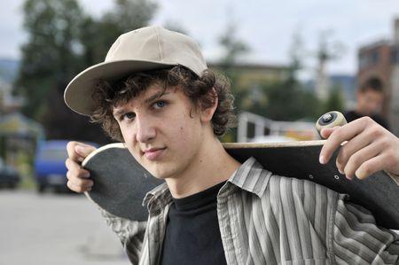 skate boarder portrait   photo