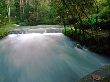 fast river with  long exposure photo