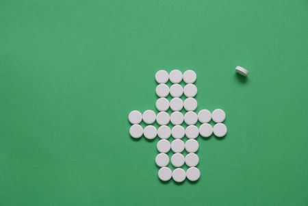 deleterious: pharmacy concept with pills