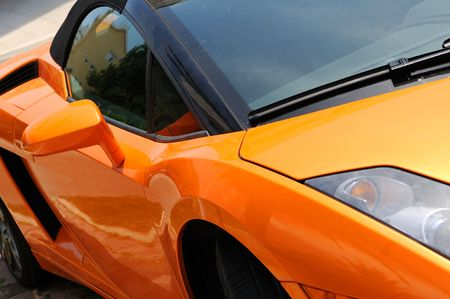 Fast  sports car front view Stock Photo - 5288003
