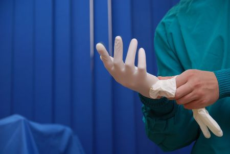 surgery sterile gloves Stock Photo - 5288388