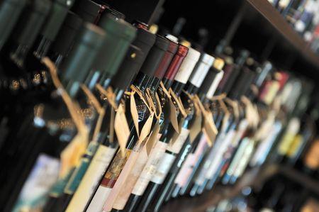 wine bottles: Bottle of wine in shop