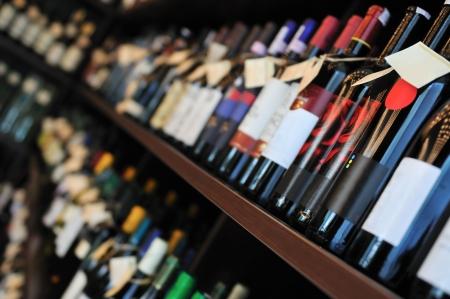 wine store: Bottle of wine in shop
