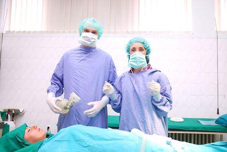 plastic surgeon: operation Stock Photo