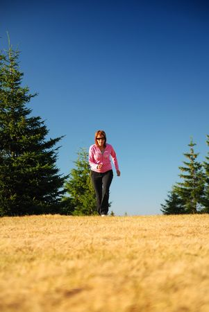 young woman working out in nature Stock Photo - 5295918