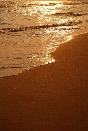 sunset on sea  photo