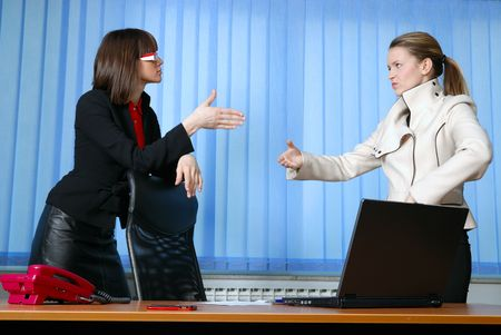 business woman handshake and success deal concept Stock Photo - 5403803