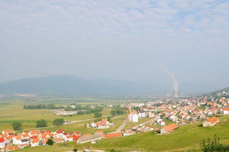 coal energy plant industry with smoke  photo