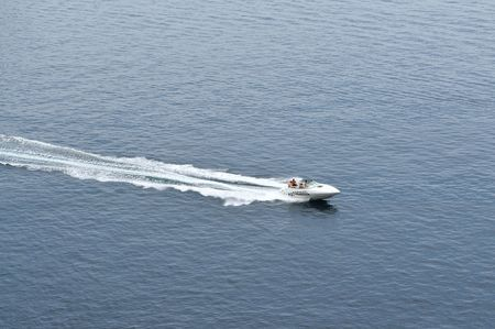 luxury turist boat ship  at sea on summer vacation photo