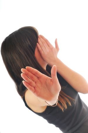 problemas familiares: los problemas de violencia familiar y la mujer cubrir miedo luchar cara
