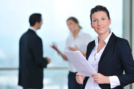 business people group together standing indoor and representing team and teamwork concept Stock Photo - 5552857
