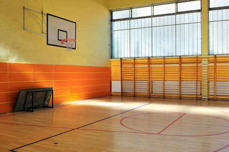 gymnasium: elementary school gym indoor Stock Photo