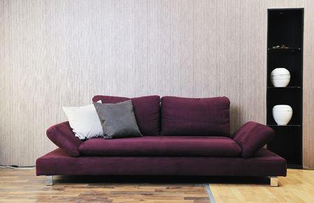 living room interior: modern living room interior atstylish furniture and sofa