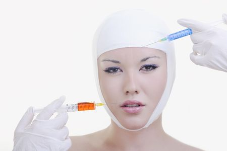woman skincare and health concept with botox injection Stock Photo - 6846133