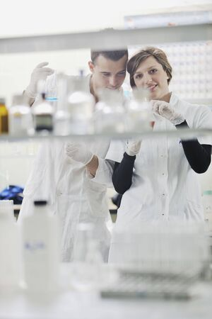 young students in bright lab photo