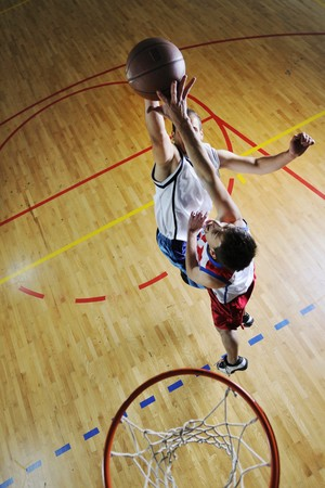 basketball net: competition cencept with people who playing and exercise  basketball sport  in school gym