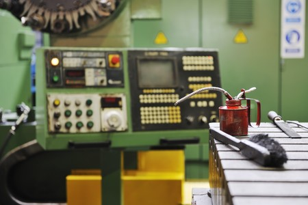 iron works steel and machine parts modern factory indoor hall Stock Photo - 7075750