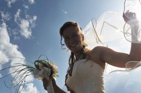beautiful bride on wedding ceremony  photo