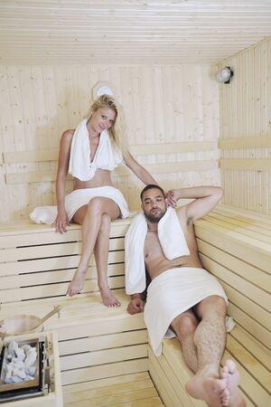finland sauna warming up and healing in a spa wellness resort cabin photo