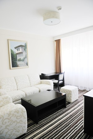 bright and clean hotel room interior with modern furniture  Stock Photo - 7814918