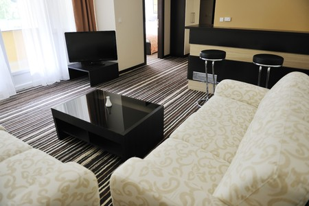 bright and clean hotel room interior with modern furniture Stock Photo - 7814938