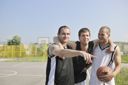 basketball player have foot trauma strech and injury at outdoor  streetbal court Stock Photo - 8310859