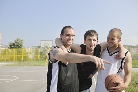 basketball player have foot trauma strech and injury at outdoor  streetbal court Stock Photo - 8310862