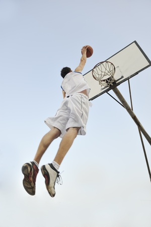 basketball player practicing and posing for basketball and sports athlete concept Stock Photo - 8313740
