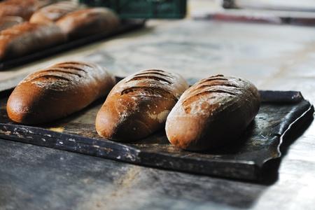 신선한 제품과 빵 빵집 식품 공장 생산