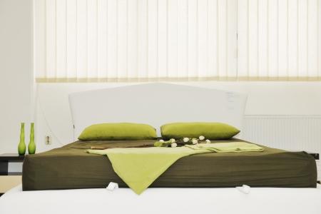 Beautiful modern bedroom interior in art deco style d rendering