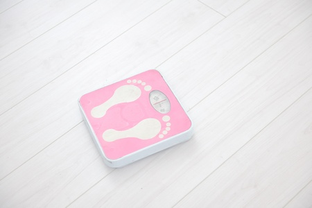 pink scale weight object for diet and healthy life concept Stock Photo - 8763347