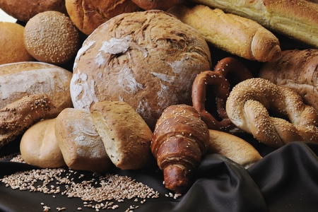 fresh healthy natural  bread food group in studio on table Stock Photo - 8777843