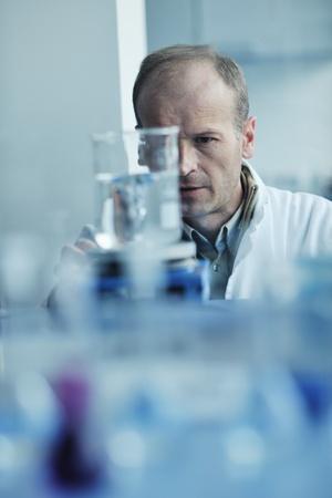 adult scientist in lab photo