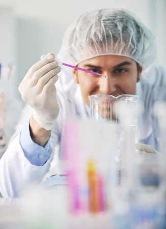 research and  science doctor student  people  in bright labaratory representing chemistry education and medicine concept photo