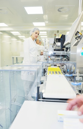 biology: medical pills industry  factory and production indoor