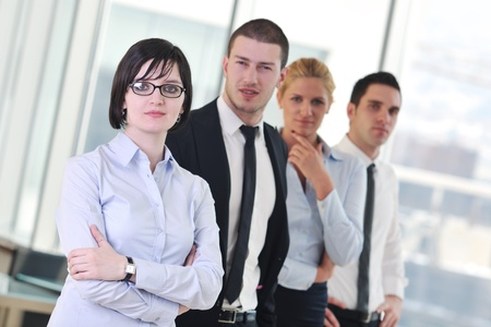 corporate group: multi ethnic mixed adults  corporate business people team