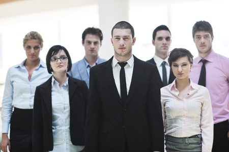 multi ethnic mixed adults  corporate business people team photo