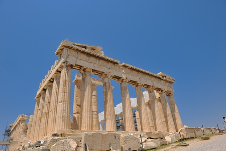 democracy monument: parthenon famous european tourist  travel destination in greece athens Editorial
