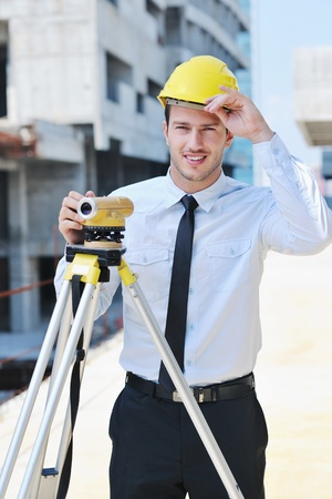 business man Architect engineer manager at construction site project Stock Photo - 10546624