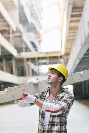 handsome hard worker people portrait at concstruction site Stock Photo - 10540821