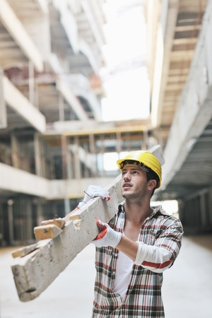 handsome hard worker people portrait at concstruction site Stock Photo - 10540824